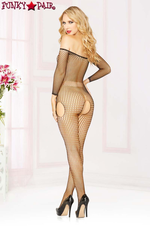 STM-20464, Off The Shoulder Bodystocking back view