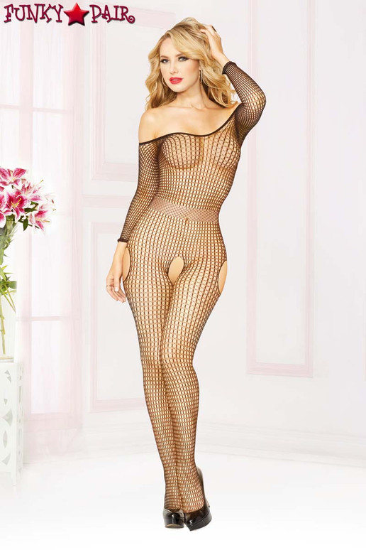 STM-20464, Off The Shoulder Bodystocking front view