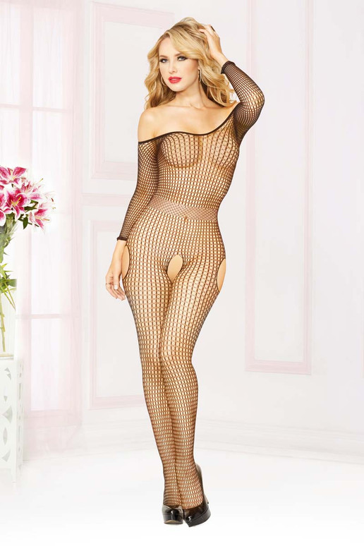 Off The Shoulder Bodystocking STM-20464, Seven Till Midnight