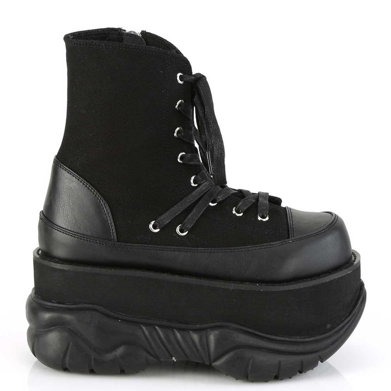 Neptune-115, Men Goth Platform Lace-up Ankle Boots by Demonia
