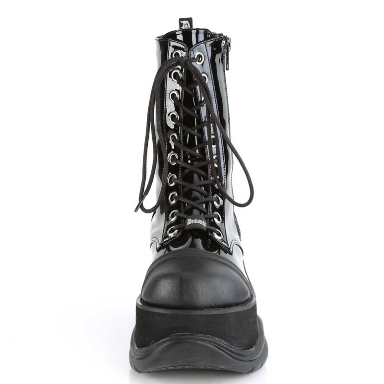 Neptune-200, Front View Platform Lace-up Demonia Men's Boots