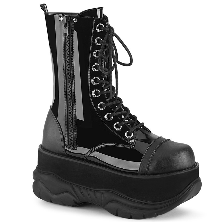 Demonia | Neptune-200, Goth Platform Lace-up Men's Boots