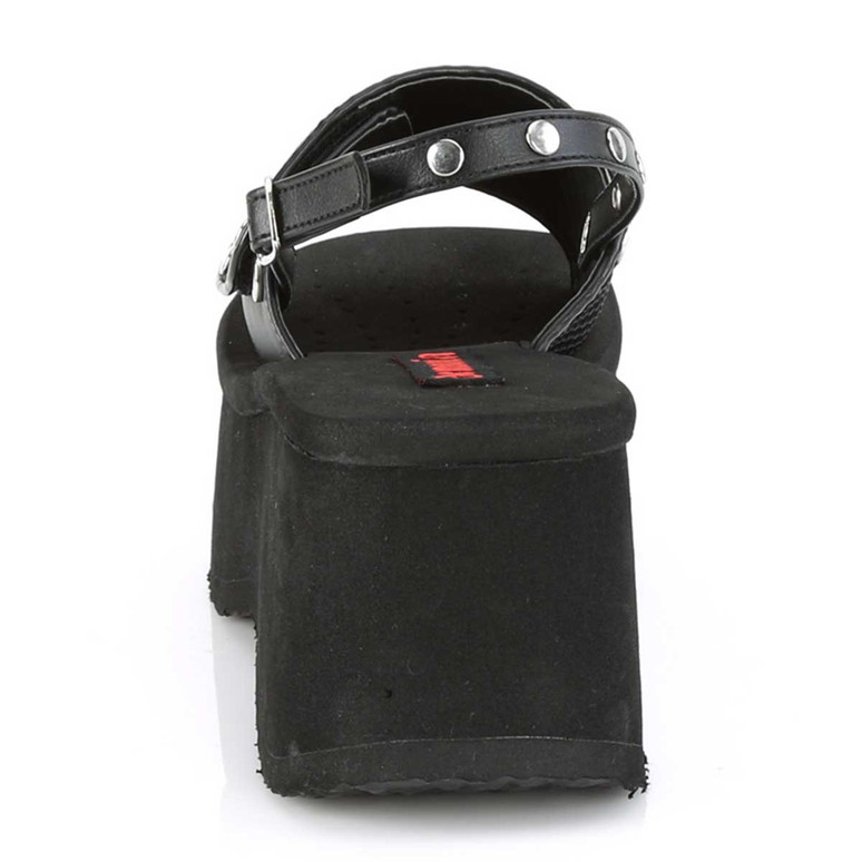 Funn-32, Back View Platform Sandal with Slingback   Demonia Women Shoes