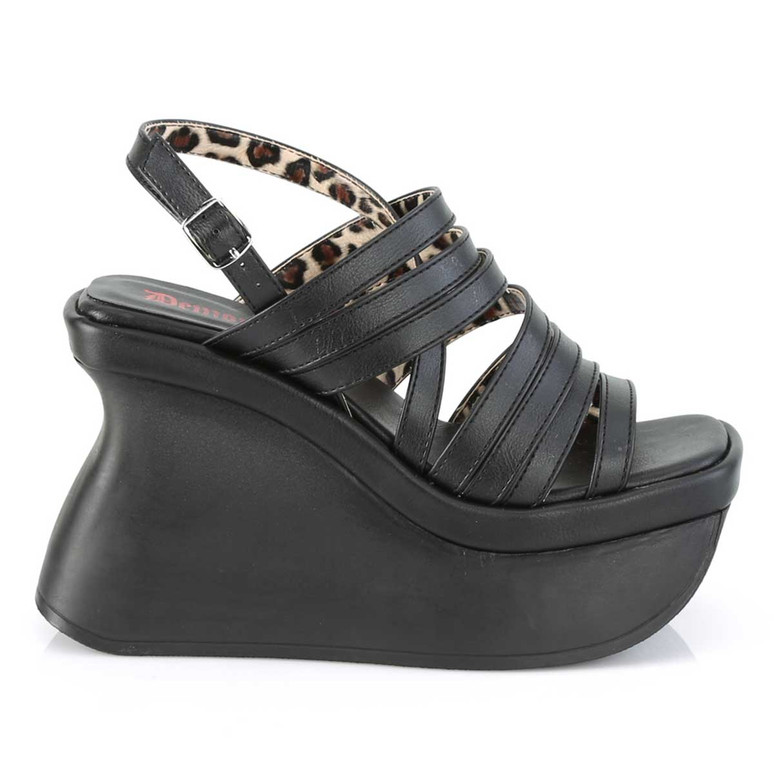 Demonia | Pace-33, Women's Wedge Strappy Platform Sandal Side View