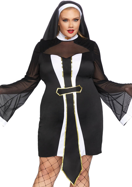 Plus Size Twisted Sister Nun Costume by Leg Avenue LA-86736X