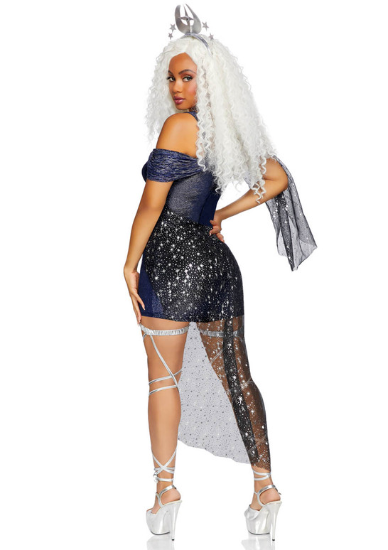 LA-86806, Moon Goddess Costume by Leg Avenue Back View