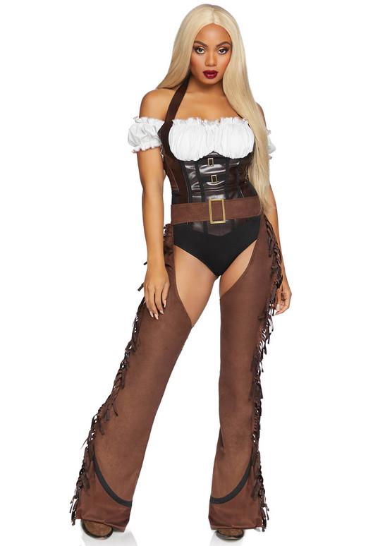 Shoot 'Em Up Cowgirl by Leg Avenue | LA-86850 Front View