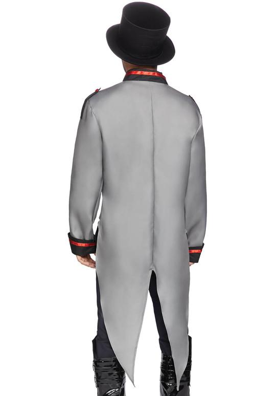 Leg Avenue LA-86847, Men's Grey Military jacket with Tail Back View