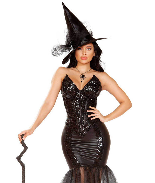 Roma | R-4910, Fancy Glitter Witch Spell Costume