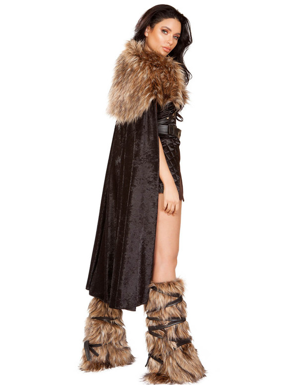 Roma | R-4896, Women's Northern Warrior Costume Back View