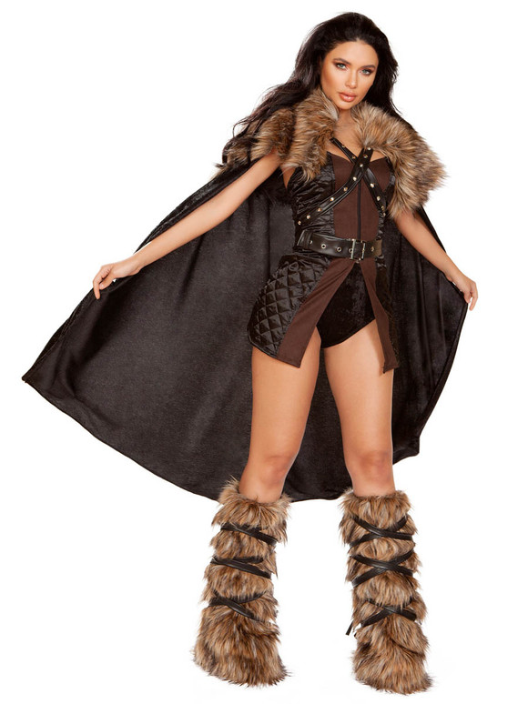 Women's Northern Warrior Costume Roma | R-4896, Full View