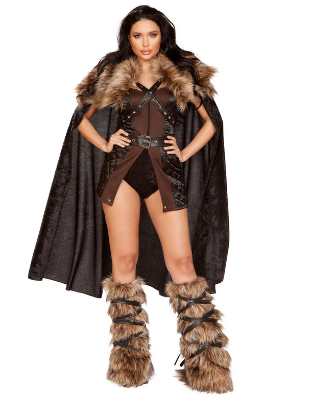 Roma | R-4896, Women's Northern Warrior Costume Front Full View