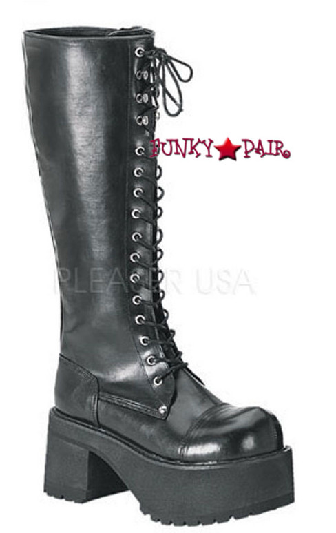 Ranger-302, Goth Punk Platform Boots Made by Demonia