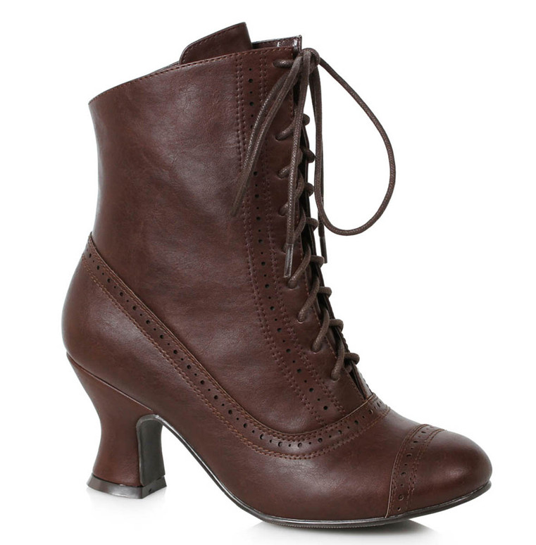 Brown Victorian Booties by Ellie Shoes 1031 253-Sarah