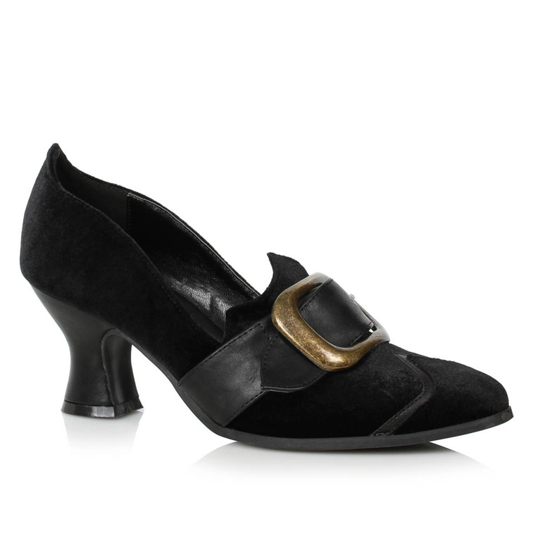 Black Velvet Witch Shoes with Buckle by Ellie Shoes 1031,  253-Solstice