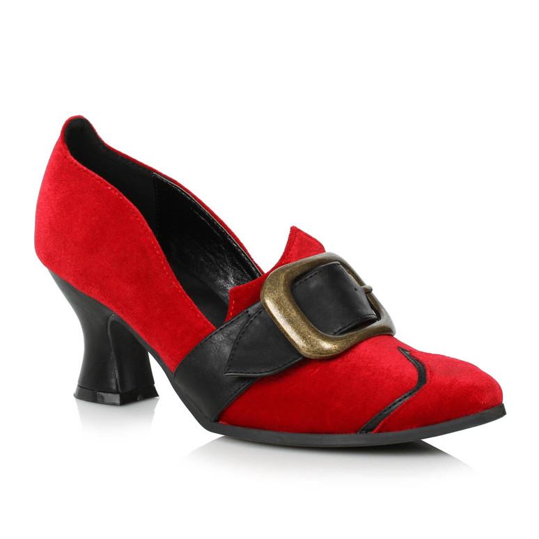Red Witch Shoes with Buckle by Ellie Shoes 1031,  253-Solstice
