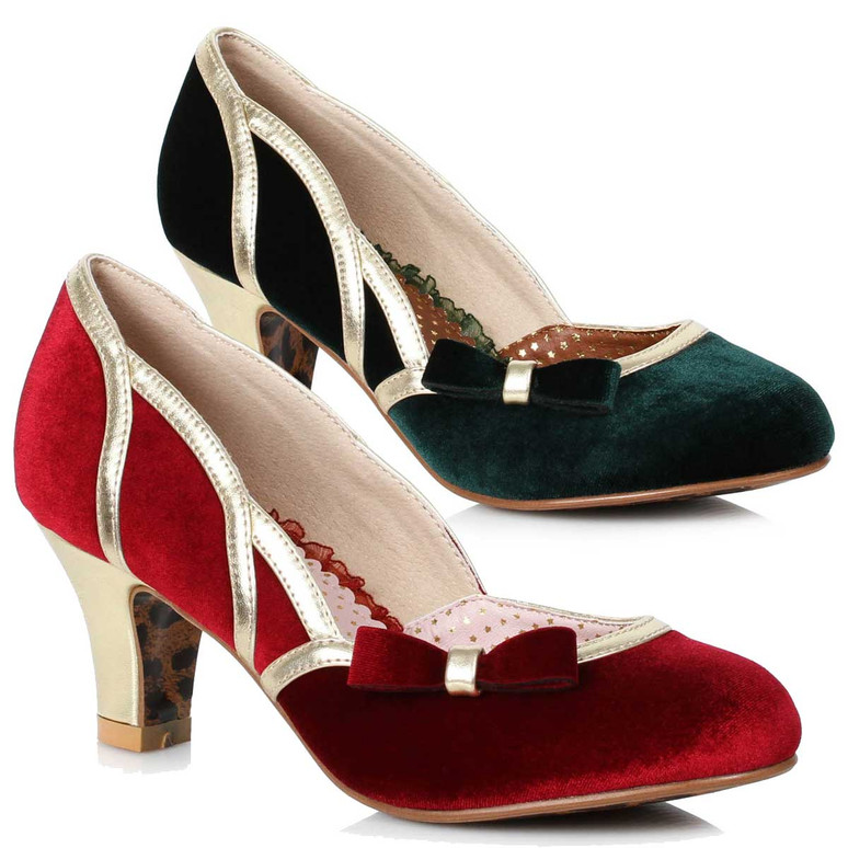 Bettie Page Shoes | BP250-Camille, Suede Pump