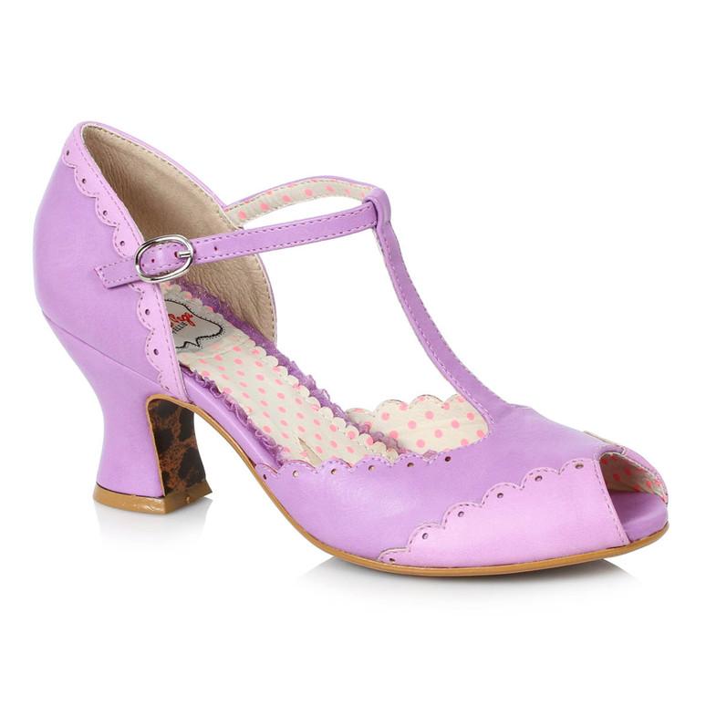 BP254-Carlie, Peep Toe T-strap Sandal by Bettie Page Shoes
