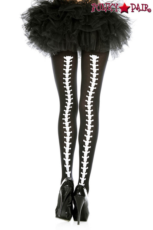 Music Legs ML-37340, Vertebrae Backseam Pantyhose