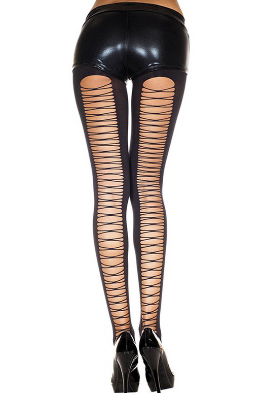 Corset Back Spandex Tights by Music Legs   ML-7243