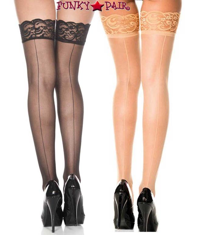 Music Legs | Backseam Fishnet Stockings, ML-4150