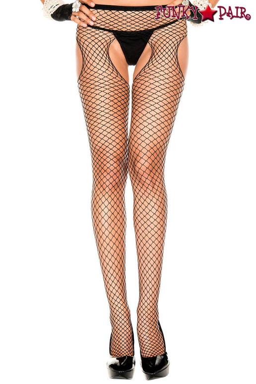 Music Legs   ML-907, Diamond Net Suspender Pantyhose