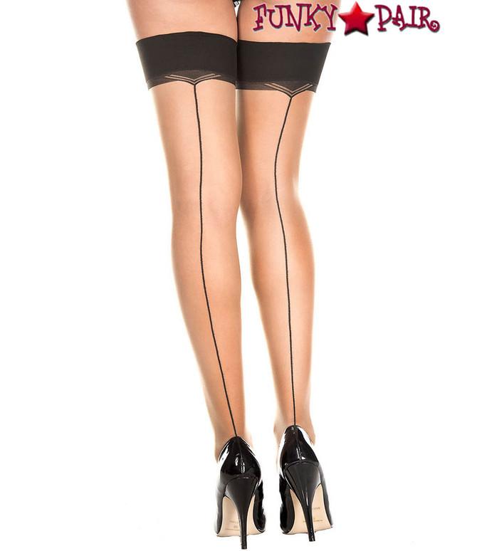 Music Legs | ML-4170, Backseam Sheer Thigh High