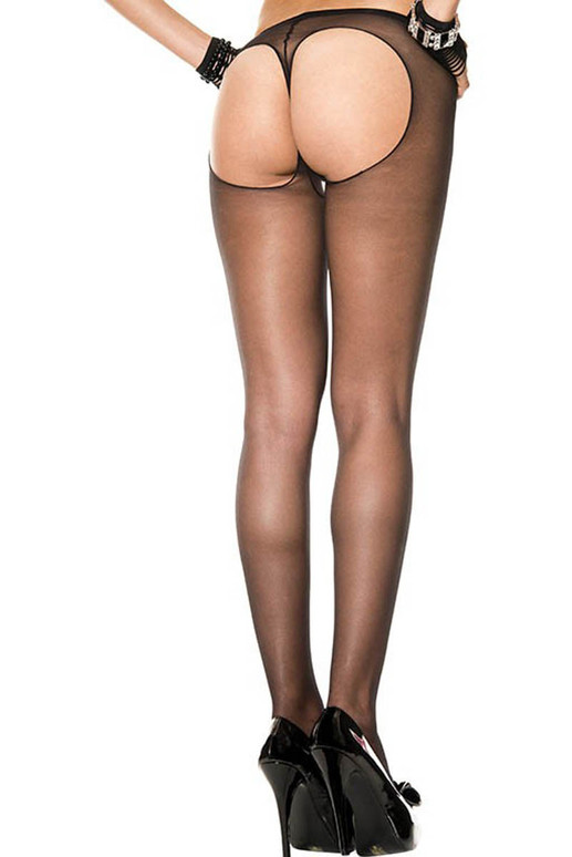 String Back Sheer Pantyhose by Music Legs ML-802