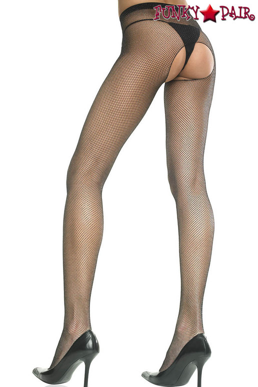 Music Legs ML-901 Crotchless Fishnet Pantyhose