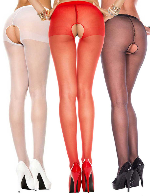 Music Legs | ML-800, Crotchless Sheer Pantyhose