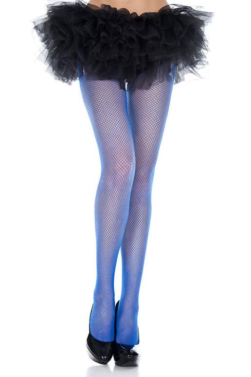 Royal Blue Fishnet Pantyhose, by Music Legs ML-9001