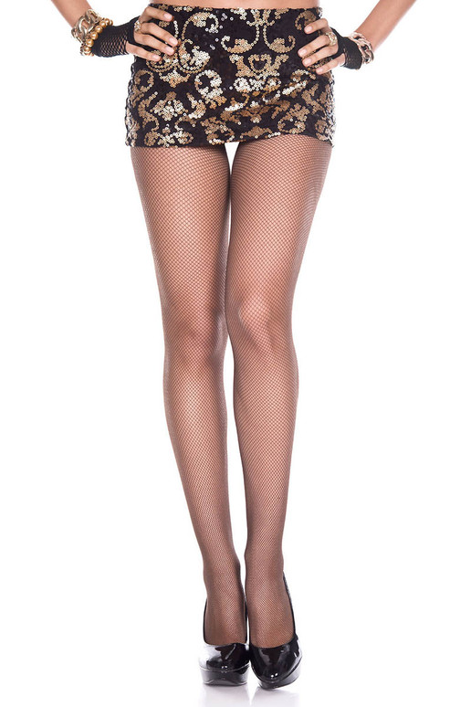 Music Legs | ML-9000, Coffee Fishnet Spandex Pantyhose