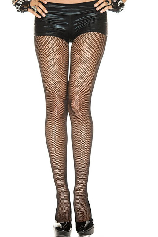 Black Fishnet Spandex Pantyhose by Music Legs ML-9000