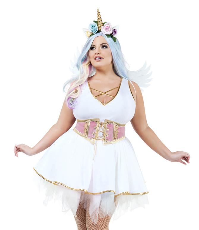 Plus Size Women's Unicorn Costume by Starline S9028X