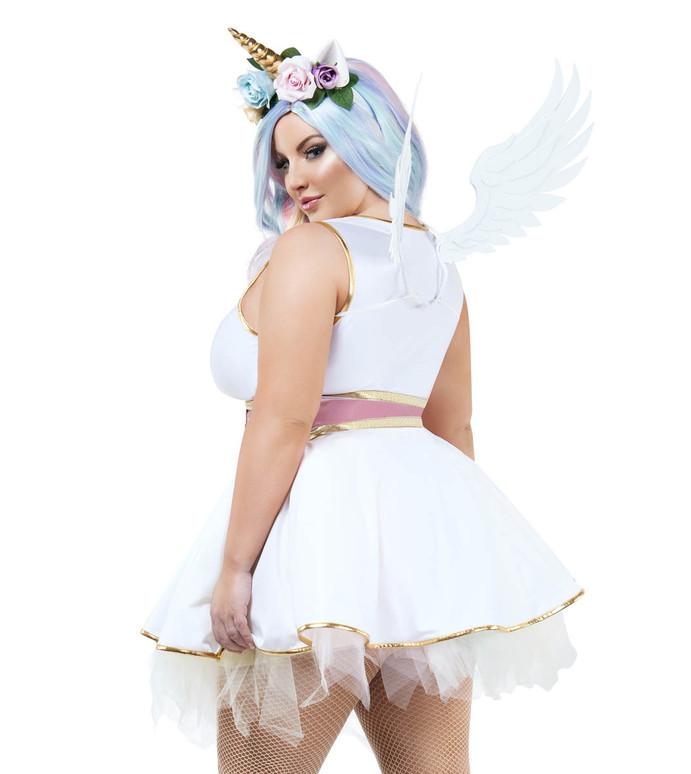 Starline S9028X Plus Size Women's Unicorn Costume back view
