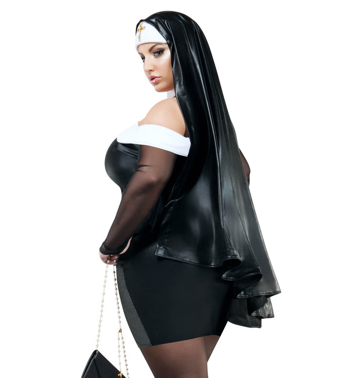 Starline Costume S9036X Plus Size Sacrilege Sister back view