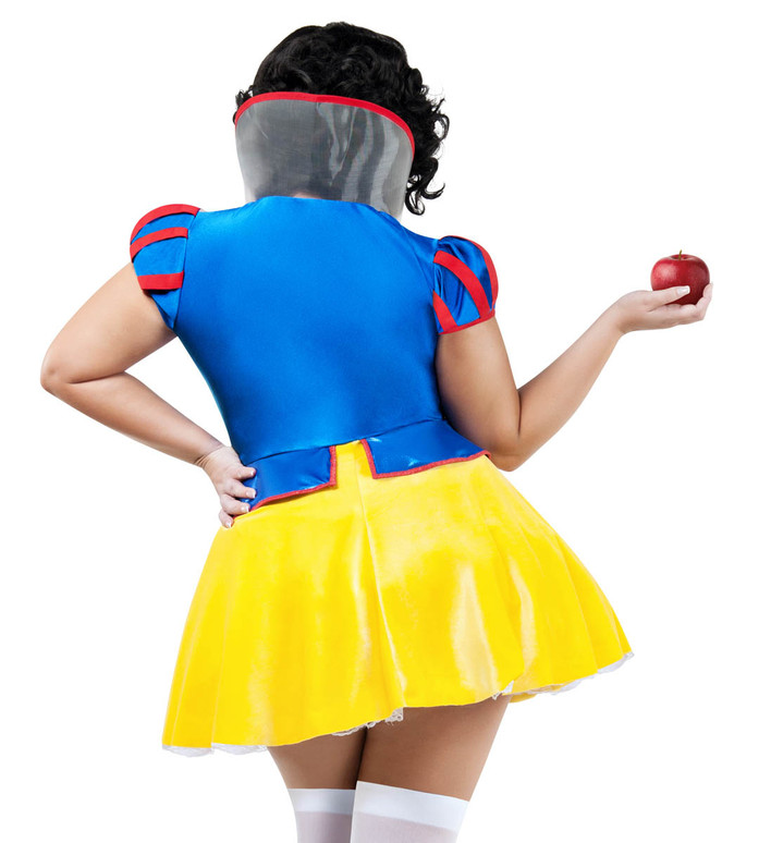 Plus Size Women's Snow White Costume by Starline S9037X  back view