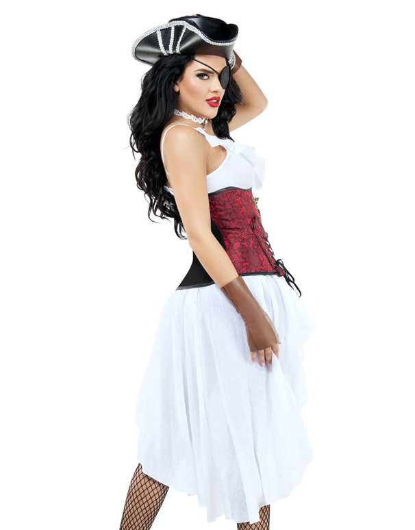 S9009 Fancy Women's Pirate Costume by Starline Back view