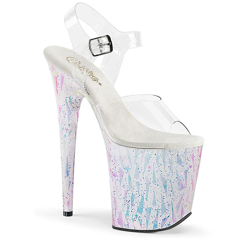 Flamingo-808SPLA-2, 8 Inch Sandal with Geometric Shape by Pleaser Shoes