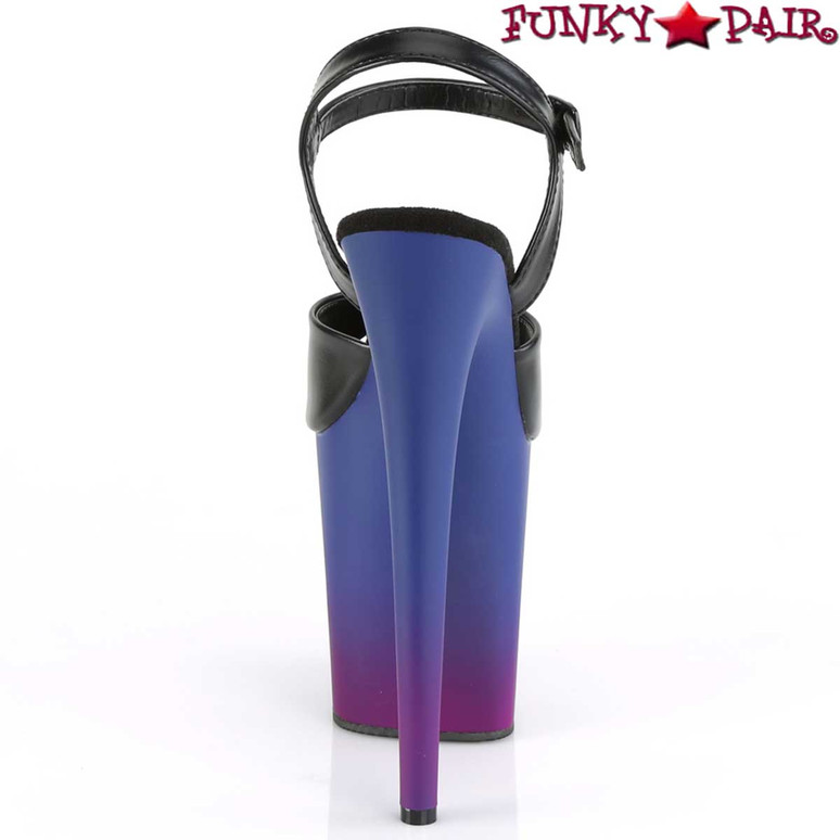 Pleaser | Flamingo-809BP, 8 Inch Platform with Ombre Effect back view
