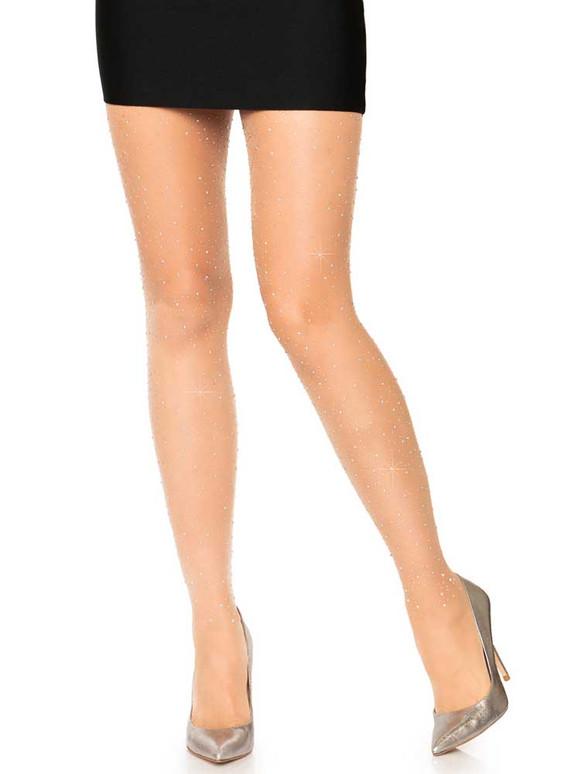 Nude Sheer Rhinestones Pantyhose by Leg Avenue LA7957