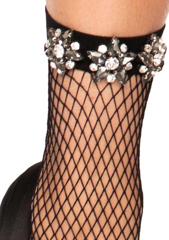 Flower Jewel Fishnet Anklets by Leg Avenue LA3046