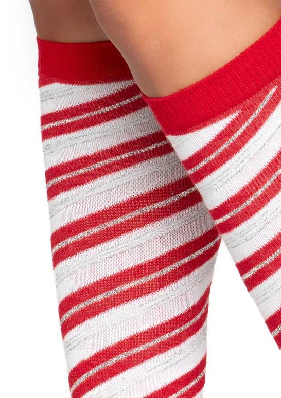 LA5616, Candy Cane Red Stripe Socks