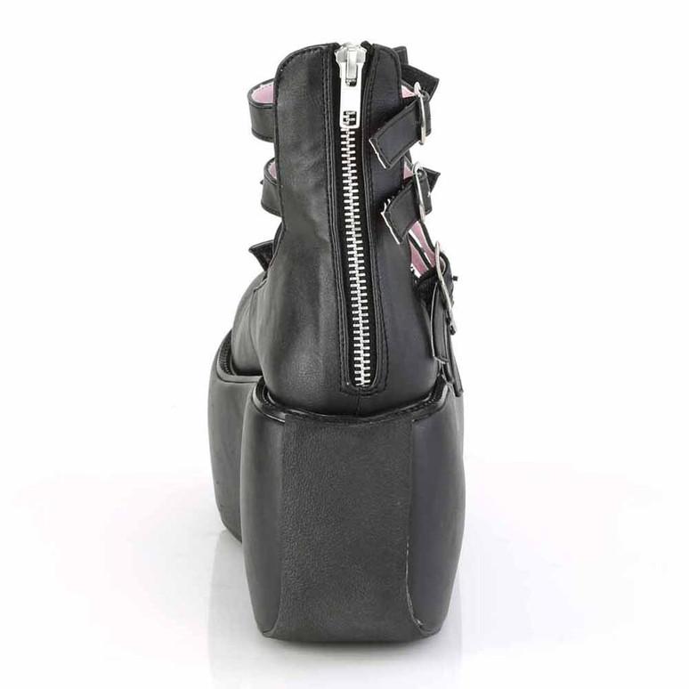 Violet-45, Multi Straps Platform Maryjane Pump back zipper view