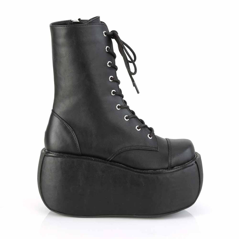 Violet-120, Gothic Lace-up Ankle Boots side view