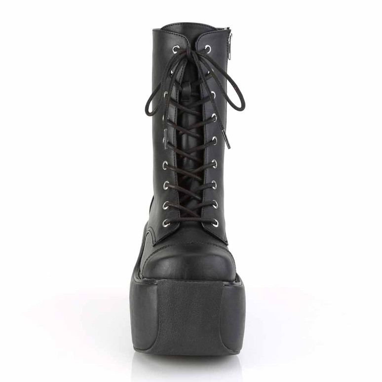 Demonia | Violet-120, Gothic Lace-up Ankle Boots front view