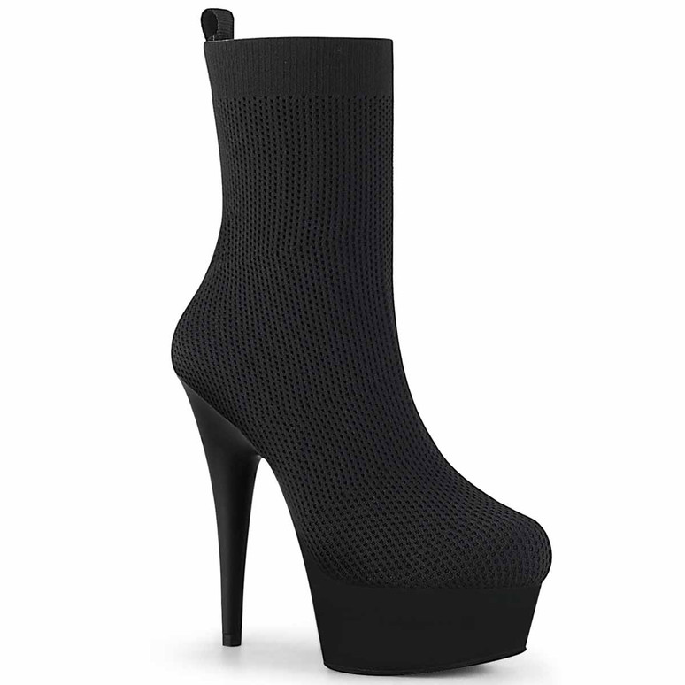 Pleaser | Delight-1002, 7 Inch Pull on Ankle Boots