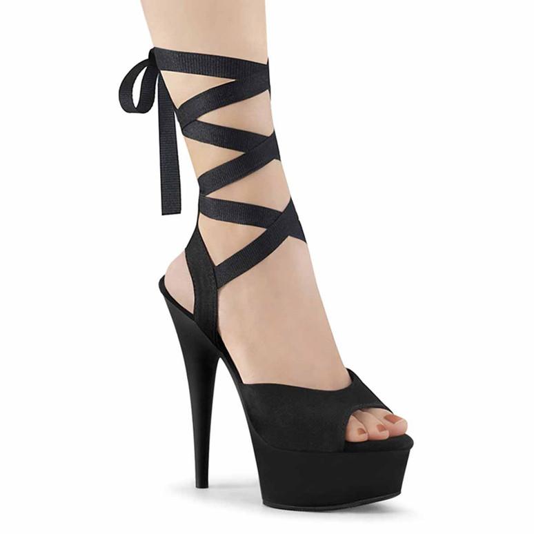 Pleaser | Delight-634, Criss Cross Ankle Wrap Sandal