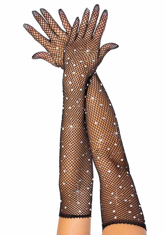 Leg Avenue | LA2038, Rhinestone Fishnet Gloves