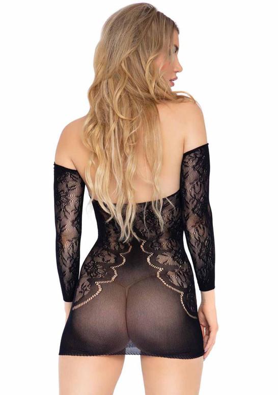 LA86161, Off the Shoulder Dress back view by Leg Avenue